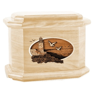 Sea Coast Maple Octagon Cremation Urn