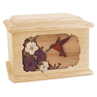 Hummingbird Maple Memory Chest Cremation Urn