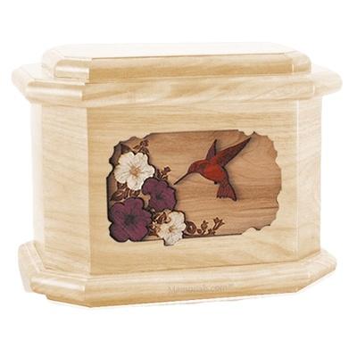 Hummingbird Maple Octagon Cremation Urn
