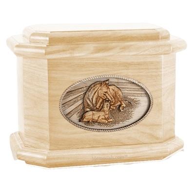 Daddys Love Maple Octagon Cremation Urn