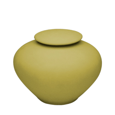 Yellow Silk Porcelain Clay Urn