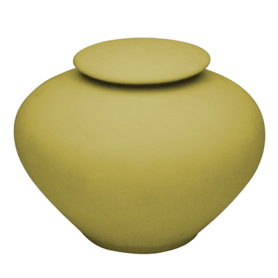 Yellow Silk Companion Porcelain Clay Urn