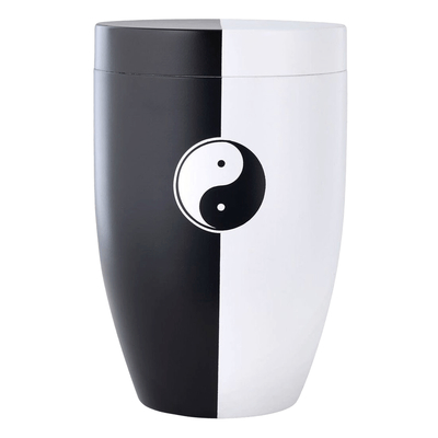 Ying Yang Steel Cremation Urn