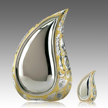 Teardrop Gold Cremation Urns