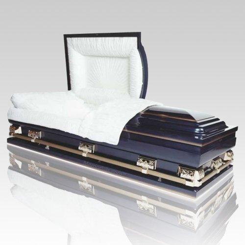 magna dark blue oversized steel casket