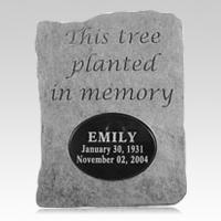 Tree Planted Memorial Rock