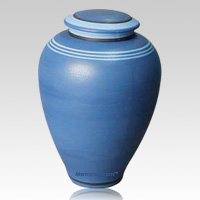 Agila Blue Biodegradable Ceramic Urn