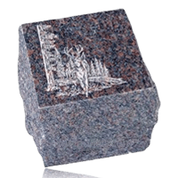 Natural Brown Granite Cremation Urn