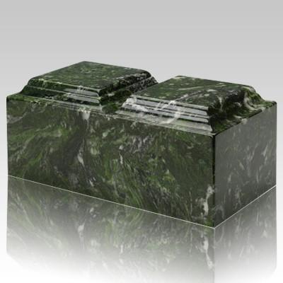 Verde Marble Companion Cremation Urn