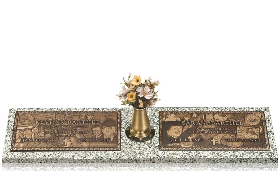 Expression Bronze Double Grave Marker For Two II