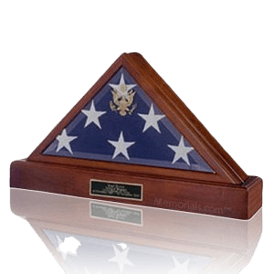 Flag Case with Pedestal Urn