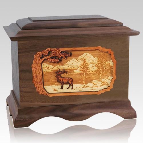 Elk Walnut Cremation Urn