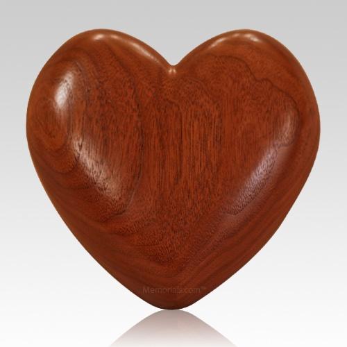 Heart Walnut Wood Pet Urn