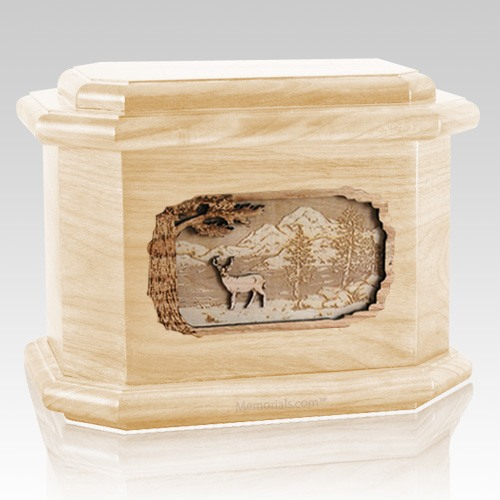 Deer Maple Octagon Cremation Urn